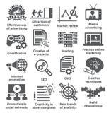 Ícones da gestão empresarial Bloco 05 Imagem de Stock Royalty Free