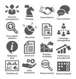 Ícones da gestão empresarial Bloco 18 Fotografia de Stock