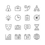 Ícones da gestão empresarial - Vector a ilustração, linha ícones ajustados ilustração royalty free