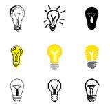 Ícones da idéia ajustados Imagens de Stock Royalty Free