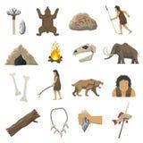 Ícones da Idade da Pedra ilustração royalty free
