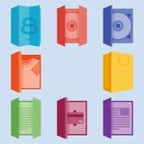 Ícones da impressão Imagens de Stock