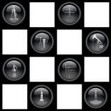Ícones da indústria Foto de Stock Royalty Free