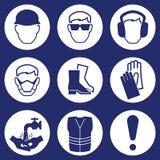 Ícones da indústria da construção civil Fotografia de Stock Royalty Free