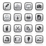 Ícones da indústria do projeto gráfico Imagens de Stock Royalty Free