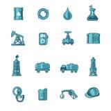 Ícones da indústria petroleira ajustados Fotografia de Stock Royalty Free