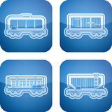 Ícones da indústria: Transporte da estrada de ferro Fotografia de Stock