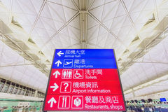 Ícones da informação no aeroporto de Hong Kong Imagem de Stock Royalty Free