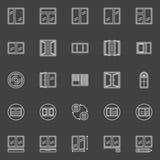 Ícones da instalação da janela ilustração stock