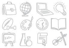 Ícones da instrução Fotografia de Stock Royalty Free