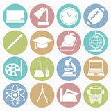Ícones da instrução ajustados Imagem de Stock Royalty Free