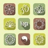 Ícones da ioga do vetor Imagem de Stock Royalty Free