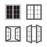 Ícones da janela ilustração stock