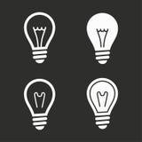Ícones da lâmpada ajustados Fotografia de Stock
