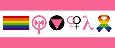 Ícones da lésbica Imagem de Stock