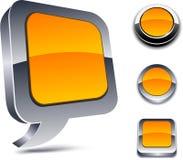 ícones da laranja 3d. Fotografia de Stock Royalty Free