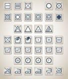 Ícones da lavanderia Imagem de Stock