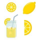 Ícones da limonada Imagens de Stock