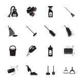 ícones da limpeza ajustados Imagem de Stock