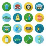 Ícones da limpeza do carro ilustração stock