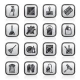 Ícones da limpeza e da higiene ilustração royalty free