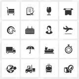 Ícones da logística Imagem de Stock