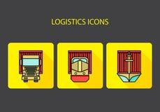 Ícones da logística Fotografia de Stock