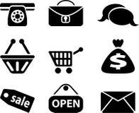 Ícones da loja Imagens de Stock