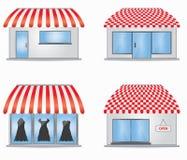 Ícones da loja Imagens de Stock Royalty Free