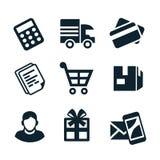 Ícones da loja Fotografia de Stock