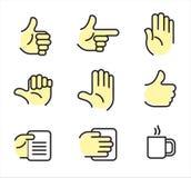 Ícones da mão Imagem de Stock Royalty Free