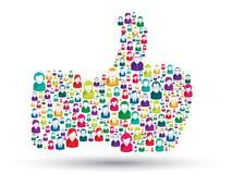 Ícones da mão dos povos - como Imagem de Stock Royalty Free