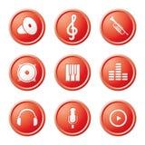 Ícones da música Imagem de Stock