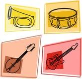 Ícones da música Fotos de Stock Royalty Free