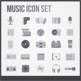 Ícones da música ajustados ilustração royalty free