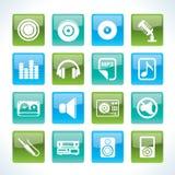 Ícones da música e do som Imagens de Stock Royalty Free