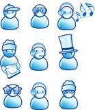 Ícones da música e dos povos Imagens de Stock