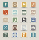 Ícones da manutenção do serviço do carro Imagens de Stock