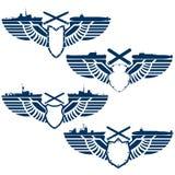 Ícones da marinha ilustração stock