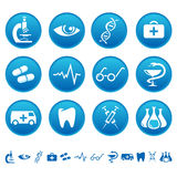 Ícones da medicina Imagem de Stock Royalty Free