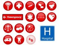 Ícones da medicina Fotos de Stock