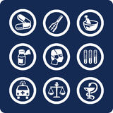 Ícones da medicina e da saúde (ajuste 6, parte 1) Fotos de Stock