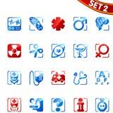 Ícones da medicina. Jogo 2. Imagem de Stock Royalty Free