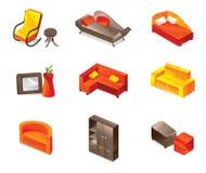ícones da mobília Imagens de Stock