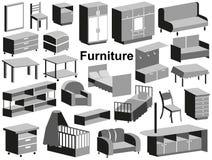 Ícones da mobília Imagens de Stock Royalty Free