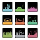 Ícones da mobília Fotografia de Stock Royalty Free
