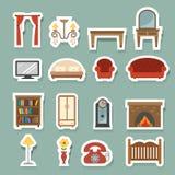 Ícones da mobília ajustados Fotografia de Stock
