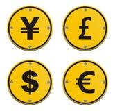 Ícones da moeda Imagem de Stock Royalty Free