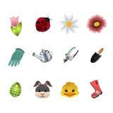 Ícones da mola Fotografia de Stock