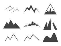 Ícones da montanha ajustados Foto de Stock Royalty Free